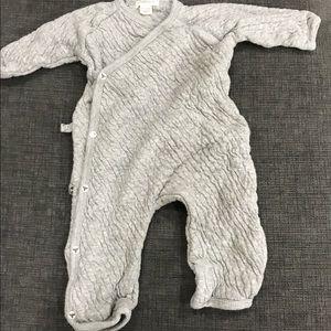 Burt's Bees Baby Other - Burt's Bees Baby Grey Kimono onesie