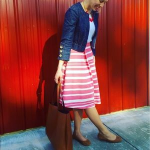 in style Dresses & Skirts - Pink and white striped skirt