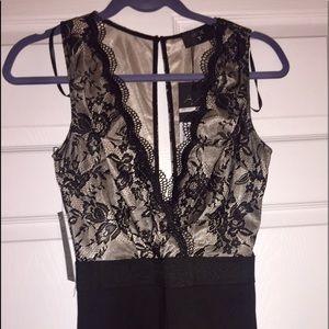 AX Paris Pants - NWT A/X Paris Black Lace Romper