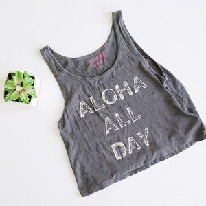 """Amuse Society Tops - Amuse Society """"Aloha All Day"""" Tank"""