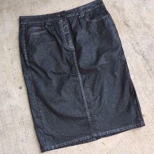 Boden Dresses & Skirts - Boden Denim Sparkle Pencil Skirt