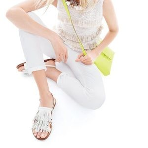 J. Crew Shoes - J. Crew Fringe Slingback Sandals