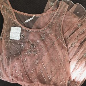 NWT Free People Starry Night Slip size XS in Rose