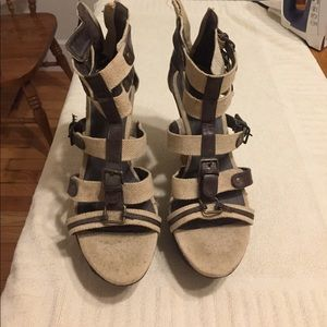 2bamboo Shoes - Wedge sandals size 9, worn twice