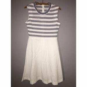 Dresses & Skirts - Vintage Navy and White Stripe Dress