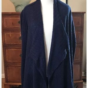Torrid navy blue open front long cardigan sweater