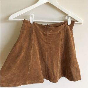 Dresses & Skirts - Tan Suede look short skater skirt