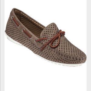 Robert Zur  Shoes - Robert Zur Brown Samoa Taupe Nubuck Loafers