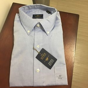 New! CLUB ROOM Men's dress shirt Sz 32-33/17 !!