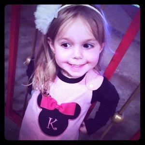"Disney Other - 🎀 ""K"" Minnie Mouse Disney dress 🎀"