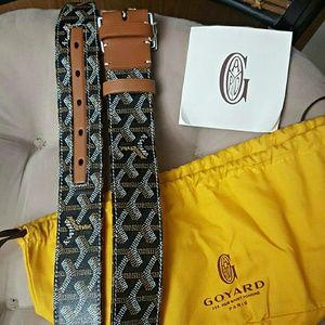 Goyard Other - Goyard Brown Monogram Leather Belt