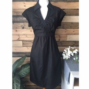 Donna Ricco Dresses & Skirts - Donna Ricco New York black faux wrap dress Size 12