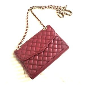 Rebecca minkoff burgandy quilted cross body bag