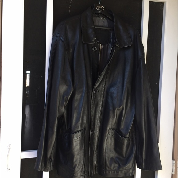 Other - Black men's leather jacket