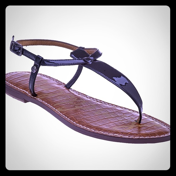 d013cbe644d7b8 Sam Edelman Gigi Patent Leather Thong Sandals. M 592cab90c28456533c041967