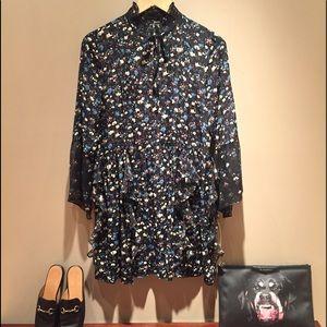 Zara black ruffle dress