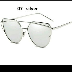 Accessories - New Cat Eye Aviator Mirror Sunglasses Silver