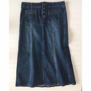 GAP Dresses & Skirts - Gap Jeans denim midi modest skirt! Women's 10