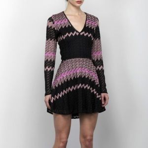Karina Grimaldi Dresses & Skirts - Karina Grimaldi Knit Dress W/ Leather Details