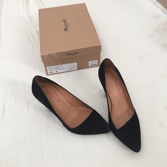 59 Off Madewell Shoes Madewell Pointy Suede Heel In
