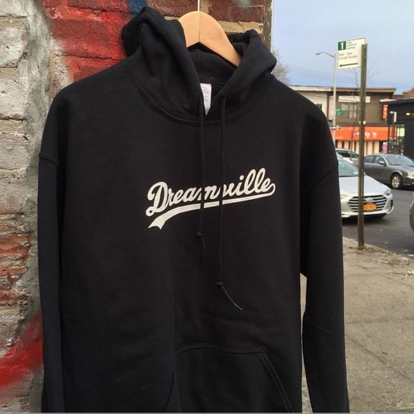 Sixpanelstudio Com Sweaters Dreamville Hoodie Black Screen Printed