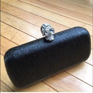 Pink Cosmo Handbags - Rhinestone skull box clutch