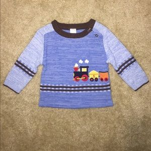 Starting Out Other - Blue Brown Choo Choo Sweater