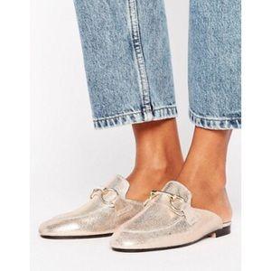 Boutique Shoes - Gold Bar Slide Loafers