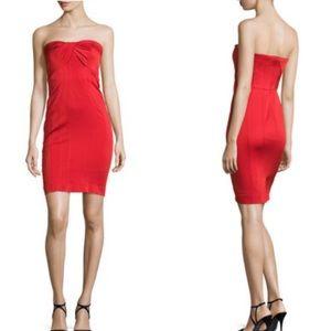 Zac Posen Dresses & Skirts - ZAC Zac Posen Red Strapless Twist Front Dress