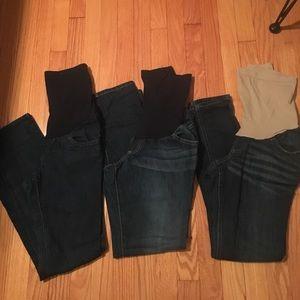 Indigo Blue Denim - BUNDLE - 3 pairs Maternity Jeans