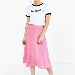 Kimchi Blue Dresses & Skirts - Kimchi Blue pink midi skirt