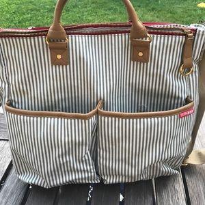 Skip Hop Handbags - Skip Hop Duo Diaper Bag French Stripe