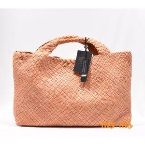 falor Handbags - NWT peach woven leather falor tote