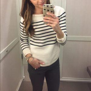 LOFT Sweaters - LOFT Striped Boatneck Sweater S XS