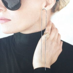 Candymuse Jewelry - Silver Plated Chain Threader Earrings