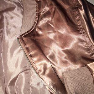 Forever 21 Jackets & Blazers - Pink Satin Bomber Jacket