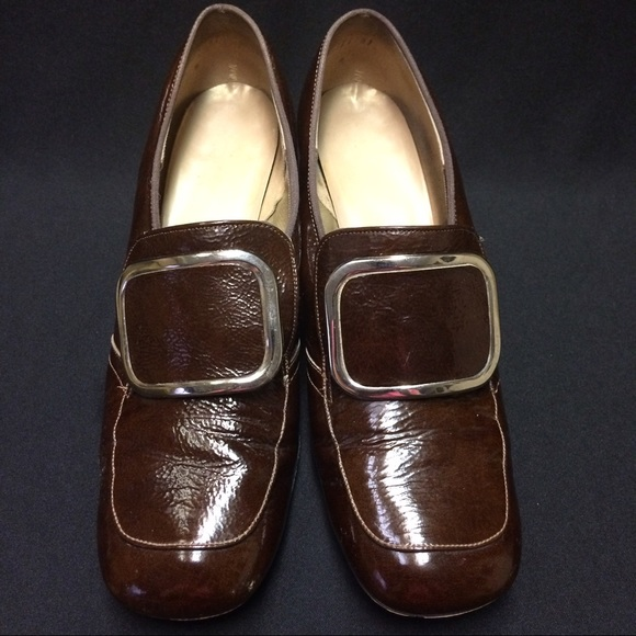 Witch Shoes Vintage Brown Buckled Heels