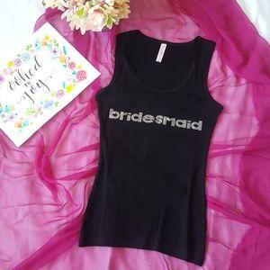❤️5 for $25 Black tank top Bridesmaid sz medium