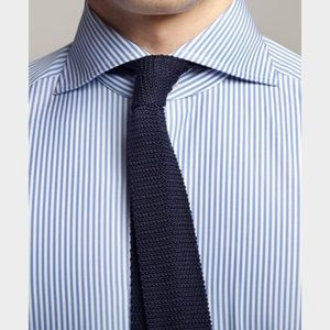 Eagle Other - Men's Blue and White Spread Collar Shirt