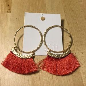 *NWT* H&M Orange Fringe Bohemian Earrings