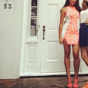 LF pink dress