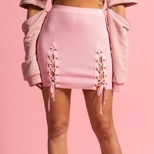 Dresses & Skirts - Barb Pink Lace-Up Skirt