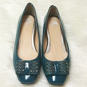 nurture Shoes - NURTURE turquoise NWOT leather ballerina bow flats