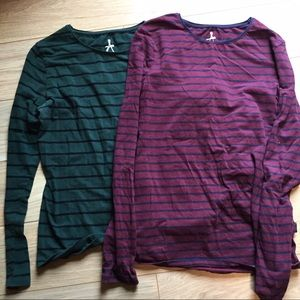 Atmosphere Tops - TWO! Long Sleeved Striped Shirts