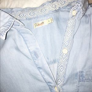 Faherty Dresses & Skirts - Faherty denim shirt dress/tunic