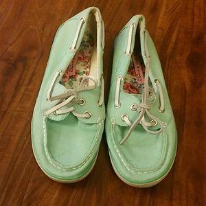 Seafoam green shoes