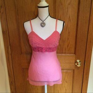 🇺🇸SALE🇺🇸Bebe Pink Sheer Silk Camisole