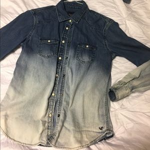 Ombre jean shirt/jacket