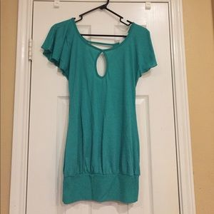 Tops - Green backless top