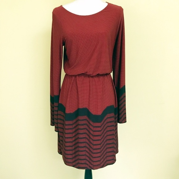 New York & Company Dresses & Skirts - Red Long Sleeve Blouson Dress from NY&Co